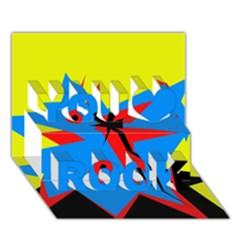 Clock You Rock 3D Greeting Card (7x5)