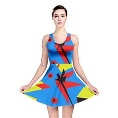 Clock Reversible Skater Dress