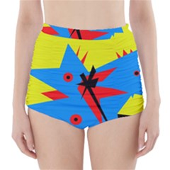 Clock High Waisted Bikini Bottoms
