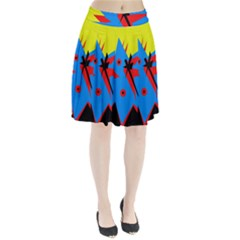 Clock Pleated Skirt