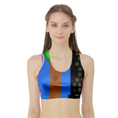 Growing  Sports Bra with Border