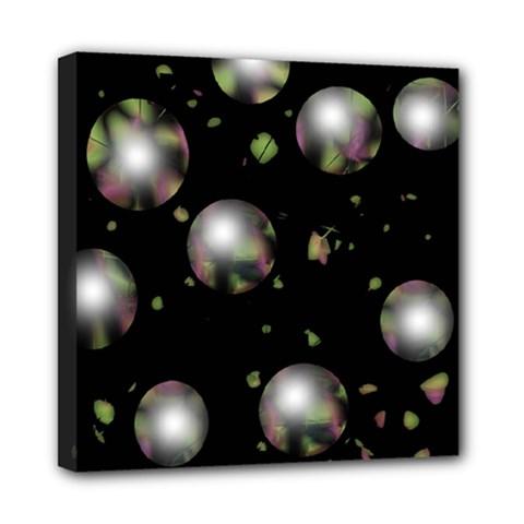 Silver balls Mini Canvas 8  x 8