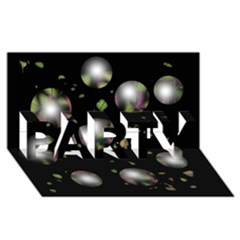 Silver balls PARTY 3D Greeting Card (8x4)