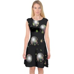 Silver balls Capsleeve Midi Dress