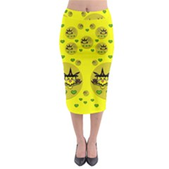 Wizard Mice In Fairy Dust Popart Midi Pencil Skirt