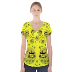 Wizard Mice In Fairy Dust Popart Short Sleeve Front Detail Top