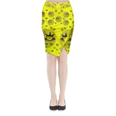 Wizard Mice In Fairy Dust Popart Midi Wrap Pencil Skirt