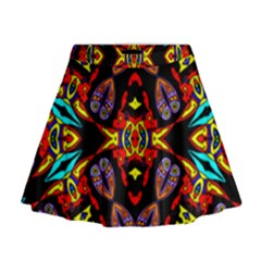 Heads Up Talk Mini Flare Skirt