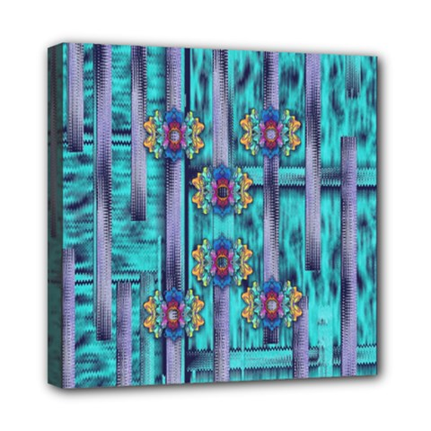 Lace And Fantasy Florals Shimmering Mini Canvas 8  X 8