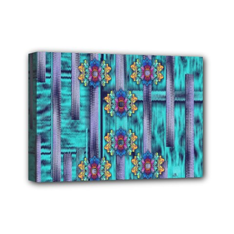Lace And Fantasy Florals Shimmering Mini Canvas 7  X 5