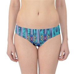 Lace And Fantasy Florals Shimmering Hipster Bikini Bottoms