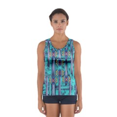 Lace And Fantasy Florals Shimmering Women s Sport Tank Top