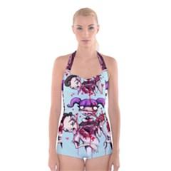 Second Date  Boyleg Halter Swimsuit