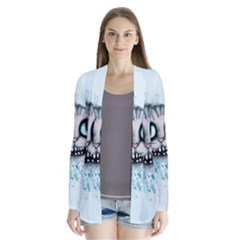 Cheshire Watercolor  Drape Collar Cardigan