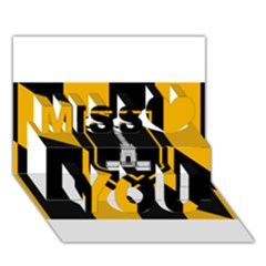Flag of Baltimore  Miss You 3D Greeting Card (7x5)