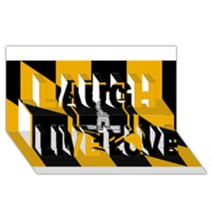 Flag of Baltimore  Laugh Live Love 3D Greeting Card (8x4)