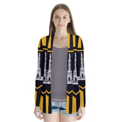 Flag of Baltimore  Drape Collar Cardigan