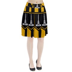 Flag Of Baltimore  Pleated Skirt