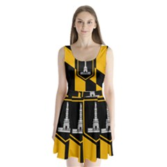 Flag of Baltimore  Split Back Mini Dress