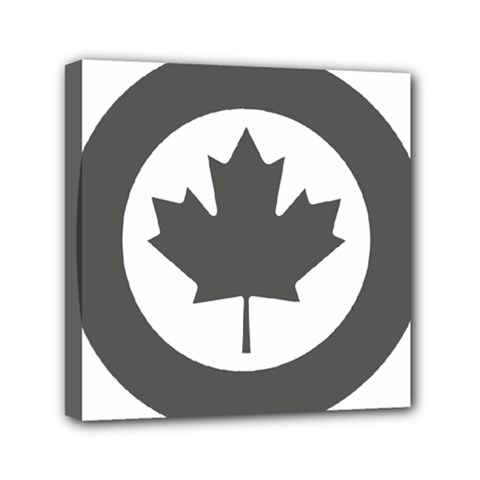 Low Visibility Roundel Of The Royal Canadian Air Force Mini Canvas 6  X 6