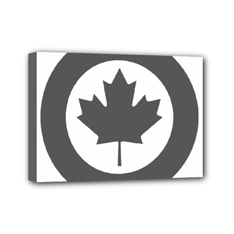 Low Visibility Roundel Of The Royal Canadian Air Force Mini Canvas 7  X 5