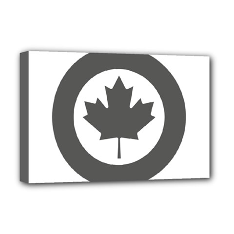 Low Visibility Roundel Of The Royal Canadian Air Force Deluxe Canvas 18  X 12