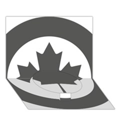 Low Visibility Roundel of the Royal Canadian Air Force Circle Bottom 3D Greeting Card (7x5)