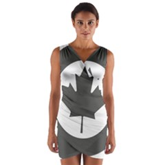 Low Visibility Roundel Of The Royal Canadian Air Force Wrap Front Bodycon Dress