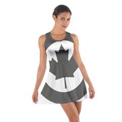 Low Visibility Roundel Of The Royal Canadian Air Force Cotton Racerback Dress
