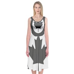 Low Visibility Roundel Of The Royal Canadian Air Force Midi Sleeveless Dress