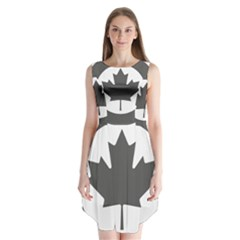 Low Visibility Roundel of the Royal Canadian Air Force Sleeveless Chiffon Dress