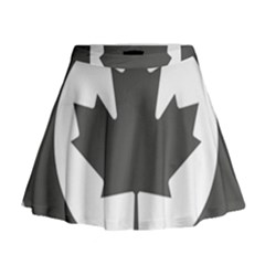 Low Visibility Roundel Of The Royal Canadian Air Force Mini Flare Skirt