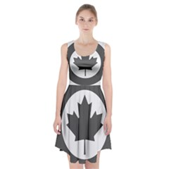 Low Visibility Roundel Of The Royal Canadian Air Force Racerback Midi Dress