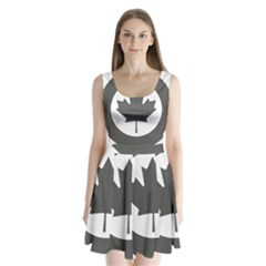 Low Visibility Roundel Of The Royal Canadian Air Force Split Back Mini Dress