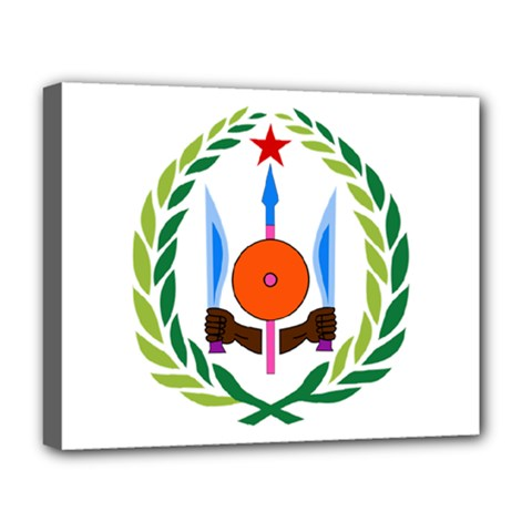 National Emblem of Djibouti  Deluxe Canvas 20  x 16