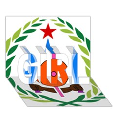 National Emblem of Djibouti  GIRL 3D Greeting Card (7x5)