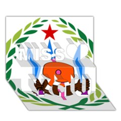 National Emblem of Djibouti  Miss You 3D Greeting Card (7x5)