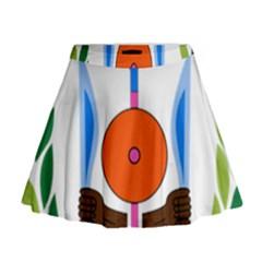 National Emblem Of Djibouti  Mini Flare Skirt