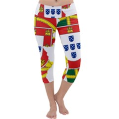 Flag Map of Portugal Capri Yoga Leggings
