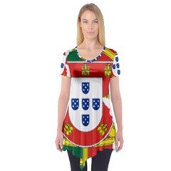 Flag Map of Portugal Short Sleeve Tunic