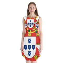 Flag Map Of Portugal Sleeveless Chiffon Dress