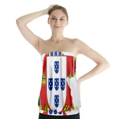 Flag Map Of Portugal Strapless Top