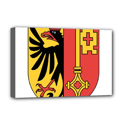 Coat of Arms of Geneva Canton  Deluxe Canvas 18  x 12