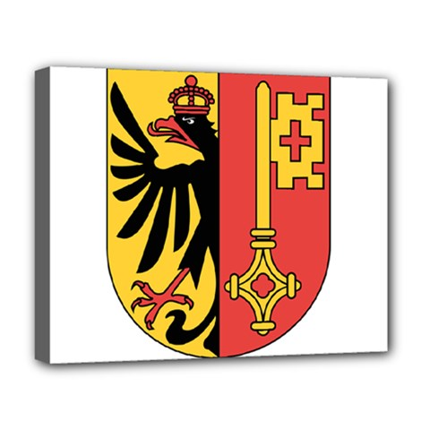 Coat of Arms of Geneva Canton  Deluxe Canvas 20  x 16