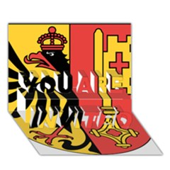 Coat of Arms of Geneva Canton  YOU ARE INVITED 3D Greeting Card (7x5)