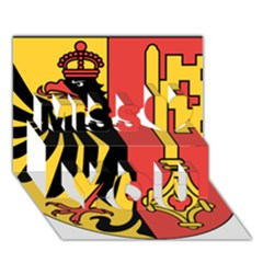 Coat Of Arms Of Geneva Canton  Miss You 3d Greeting Card (7x5)