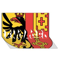 Coat of Arms of Geneva Canton  ENGAGED 3D Greeting Card (8x4)