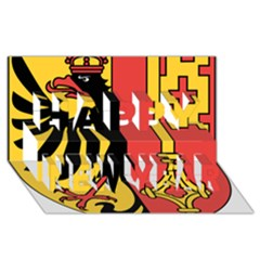 Coat of Arms of Geneva Canton  Happy New Year 3D Greeting Card (8x4)