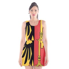 Coat of Arms of Geneva Canton  Scoop Neck Skater Dress