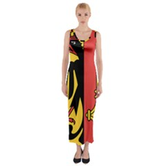 Coat of Arms of Geneva Canton  Fitted Maxi Dress